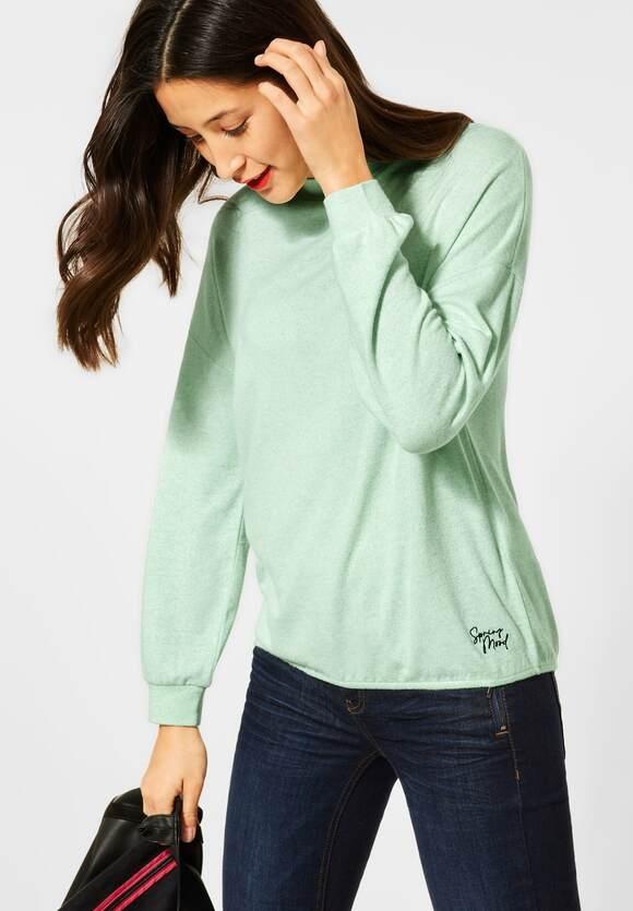 Street One | Shirt mit Stehkragen | Farbe: frosted pistachio mel 12830, 315813