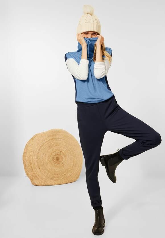 CECIL | Shirt in Colourblock | Farbe: deep blue melange 30157, 317043