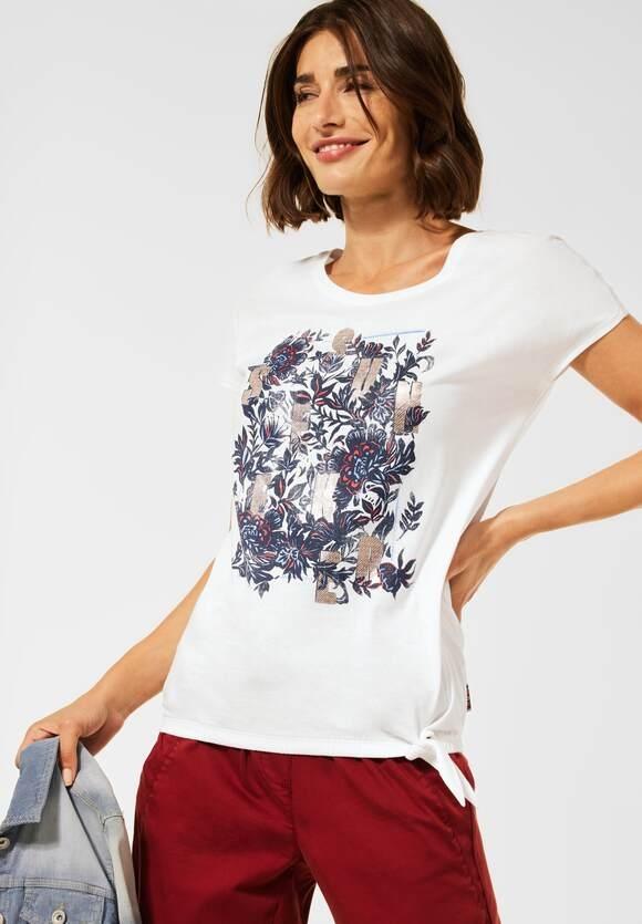Cecil   T-Shirt mit Schleifen Detail   Farbe: pure off white 30125, 316634