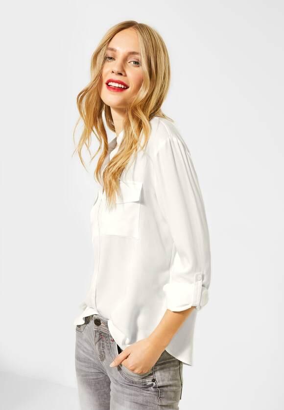 Street One | Shirt-Bluse mit Brusttasche | Farbe: off white 10108, 342291