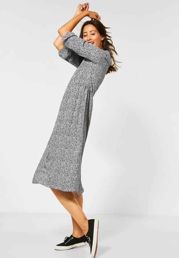Street One | Midi-Kleid mit Muster | Farbe: black 20001, 142743