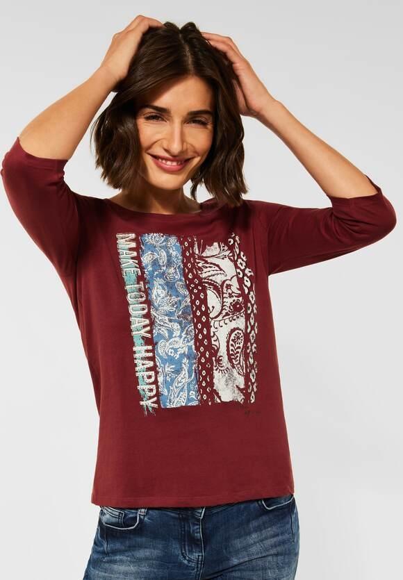 Cecil   T-Shirt mit Fotoprint   Farbe: copper brown 33160, 316741