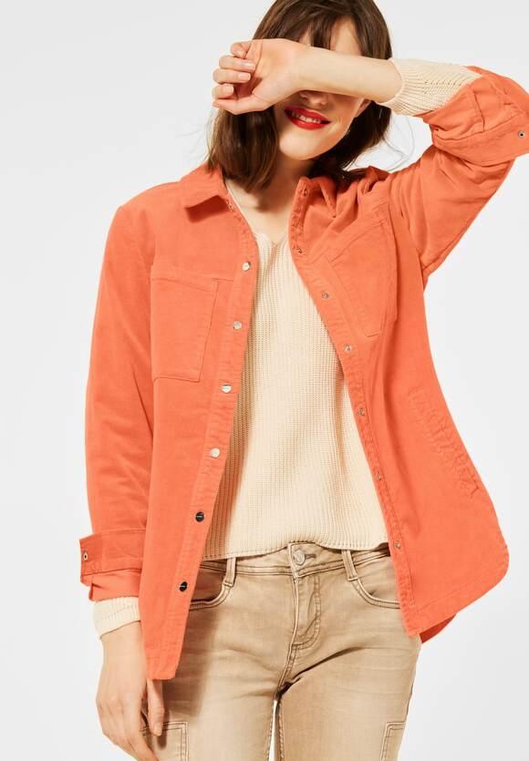 Street One | Overshirt in Cord-Optik | Farbe: strong mandarine 12811, 211347