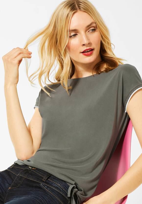 "Street One | Jersey-Shirt ""Femke"" | Farbe: shady olive 12440, 315251"