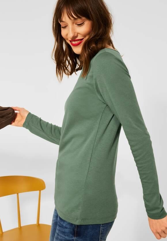 "Street One | Shirt ""Lanea"" in Unifarbe | Farbe: frosty green 13389, 316885"