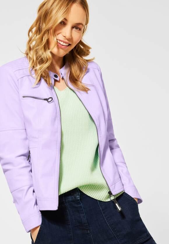 Cecil | Kunstleder-Jacke aus PU | Farbe: chalked violet 12647, 211304