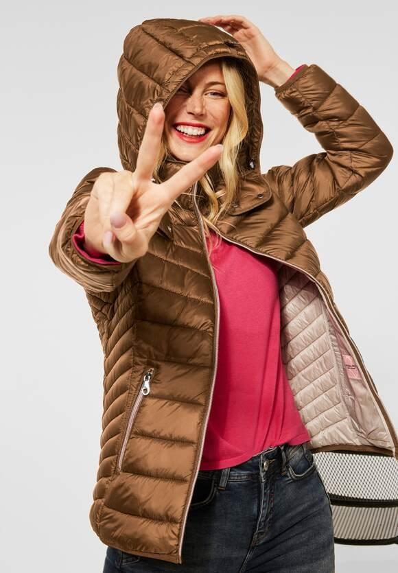 Street One | Outdoor Jacke mit Kapuze | Farbe: full brown 13131, 201637