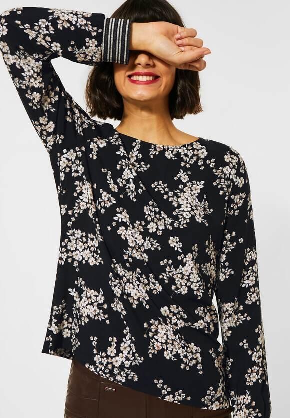 Street One | Bluse mit Blumenprint | Farbe: black 30001, 342343