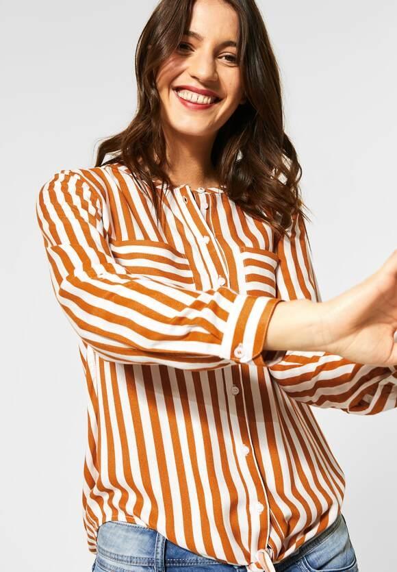 Street One | Bluse mit Streifenmuster | Farbe: foxy caramel 22467, 342166