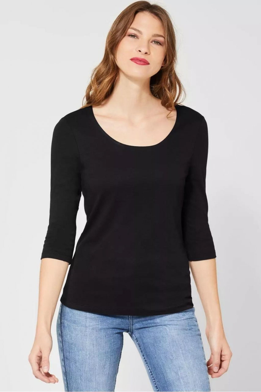 "Street One | Basic Shirt ""Pania"" | Farbe: black 10001, 313977"