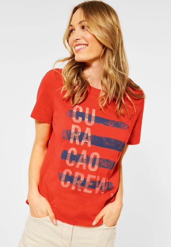 Cecil   T-Shirt mit Print   Farbe: papaya orange 32661, 316022