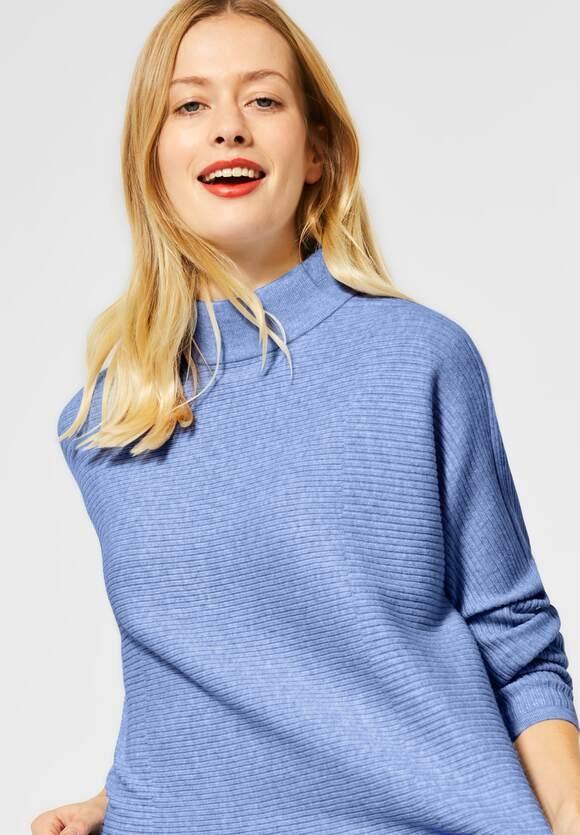 Street One | Pullover mit Dolmanärmeln | Farbe: fluffy blue mel 12570, 301409