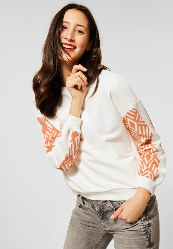 Street One | Sweatshirt mit Dessin | Farbe: off white 20108, 315932