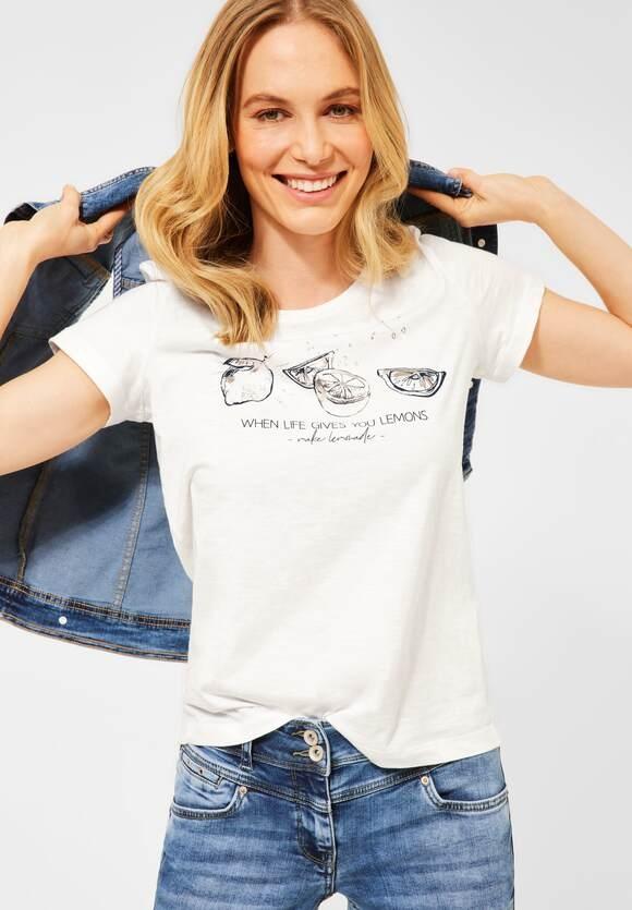 Cecil | T-Shirt mit Motiv | Farbe: pure off white 30125, 316351