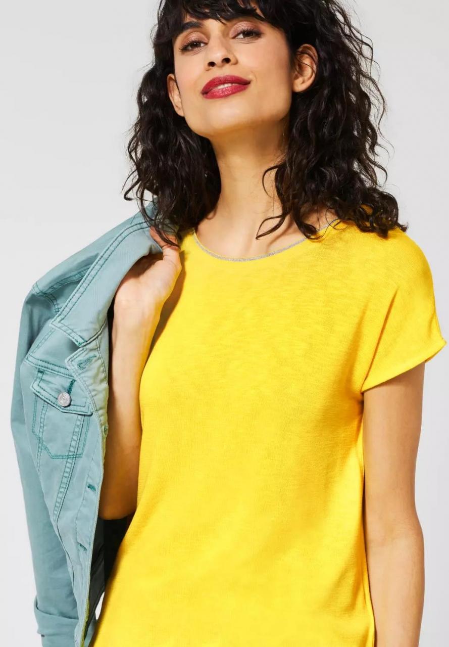 Street One   T-Shirt mit Glitzer   Farbe: shiny yellow 12201, 314903
