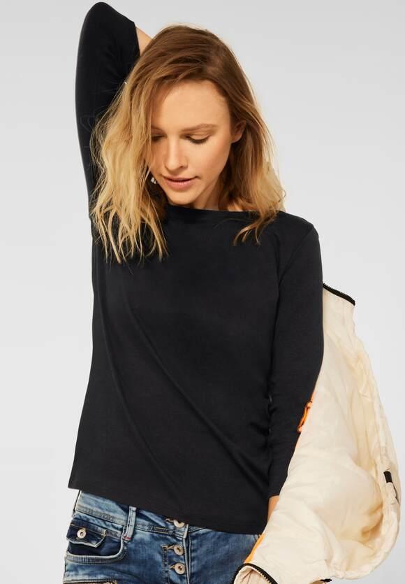 CECIL   Basic Shirt mit 3/4 Ärmel   Farbe: black 10001, 317082
