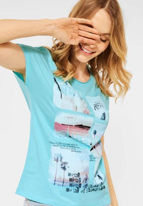 Cecil   T-Shirt mit Fotoprint   Farbe: water ballet blue 33065, 316343