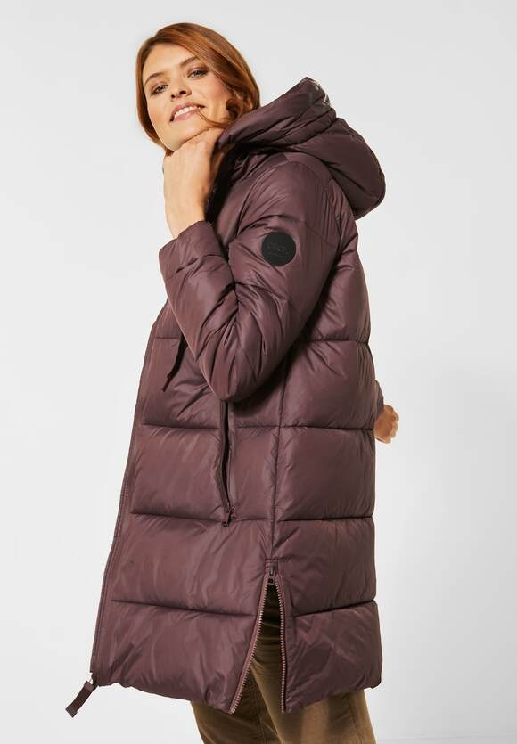 Cecil | Warmer Outdoormantel | Farbe: shiny aubergine 12343, 100637