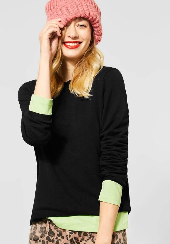 Street One | Pullover in Unifarbe | Farbe: black 10001, 301450