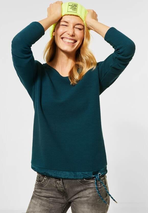 Cecil   Uni-Shirt in Struktur-Optik   Farbe: atlantic green 12523, 315653