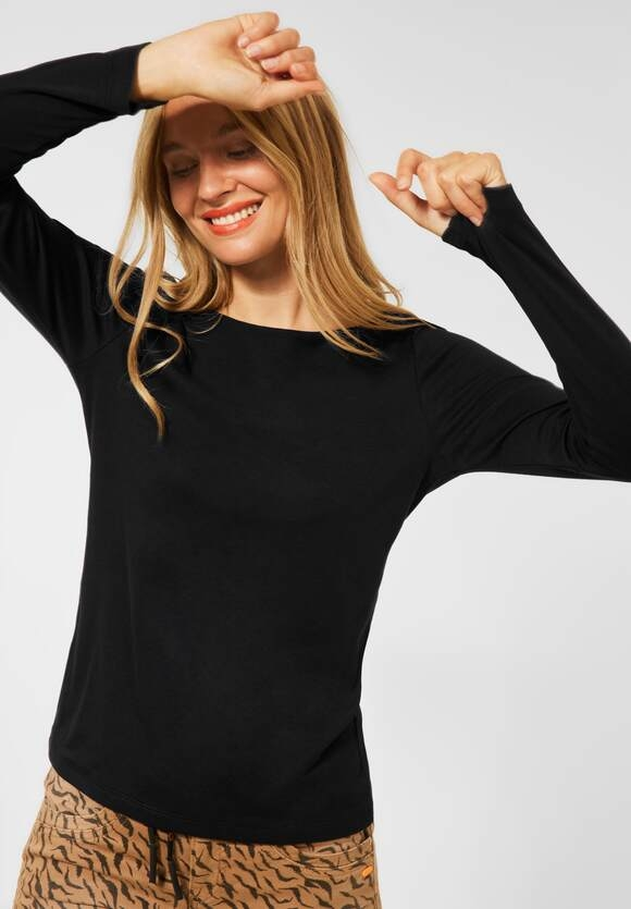"Street One | Shirt ""Lanea"" in Unifarbe | Farbe: black 10001, 316885"