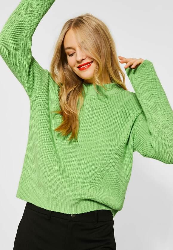 Street One | Uni Struktur-Pullover | Farbe: sunny lime 12534, 301407