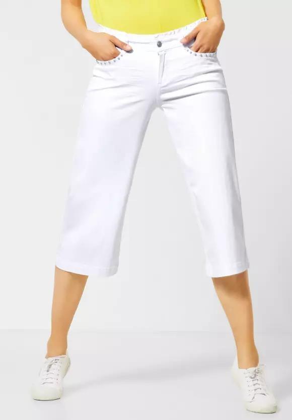 Street One   Weiße Denim mit Flared Legs   Farbe: white 10000, 373170