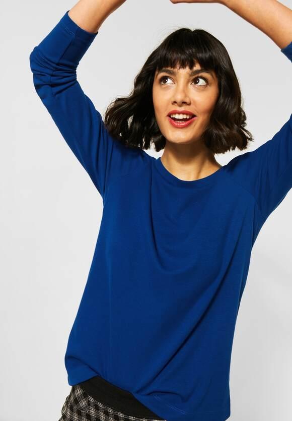 Street One | Shirt mit Puffärmeln | Farbe: cobalt blue 11784, 315619
