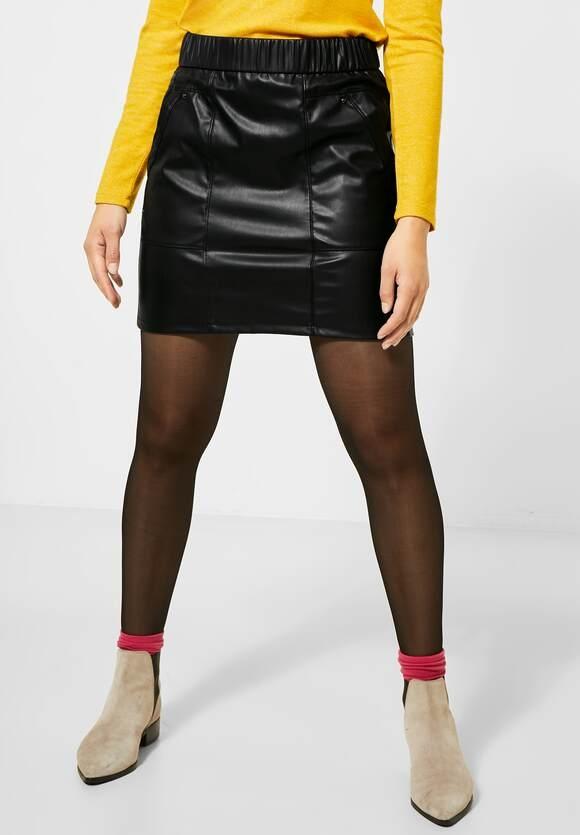 """Street One   Rock """"Happy"""" in Fake Leder-Optik   Farbe: black 10001, 360724"""
