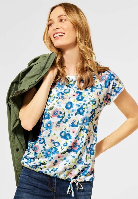 Cecil | T-Shirt mit Blumen Muster | Farbe: pure off white 30125, 316204