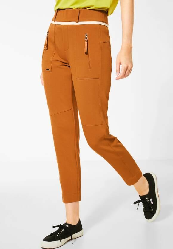 "Street One | Hose im Joggpants-Style ""Bonny"" | Farbe: foxy caramel 12467, 373356"