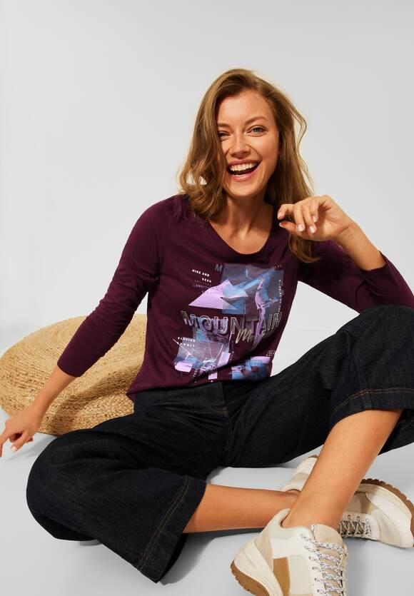 CECIL   Shirt mit Fotoprint   Farbe: red grape 33133, 317017