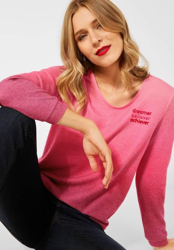Street One   Shirt mit Farbverlauf   Farbe: full red 33319, 316913