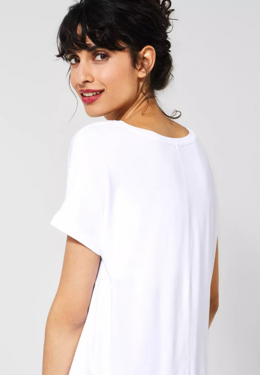 "Street One | T-Shirt ""Crista"" in Unifarbe 