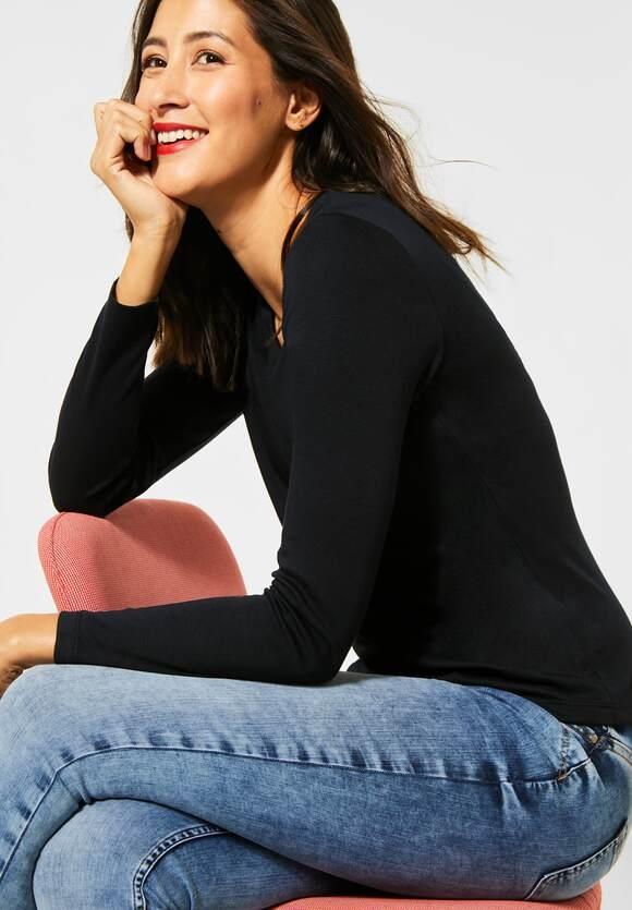 "Street One | Doppelfront-Shirt ""Lanea"" | Farbe: black 10001, 314151"