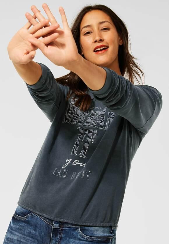 Street One | Shirt mit Partprint | Farbe: carbon grey 33170, 316799