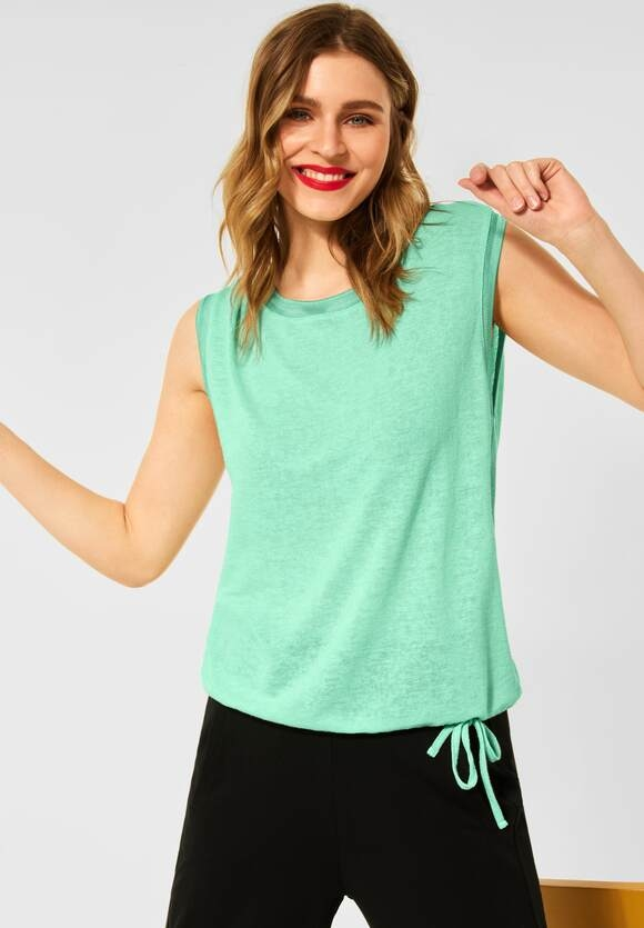 Street One   T-Shirt im Leinen Look   Farbe: menthe green 13108, 316277