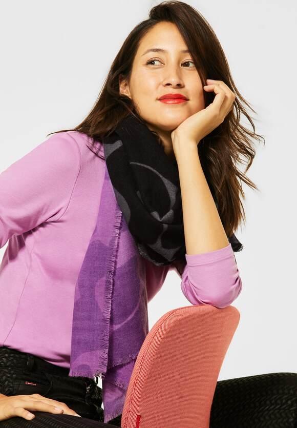 Street One   Langer Schal mit Print   Farbe: sweet lilac 32535, 571373