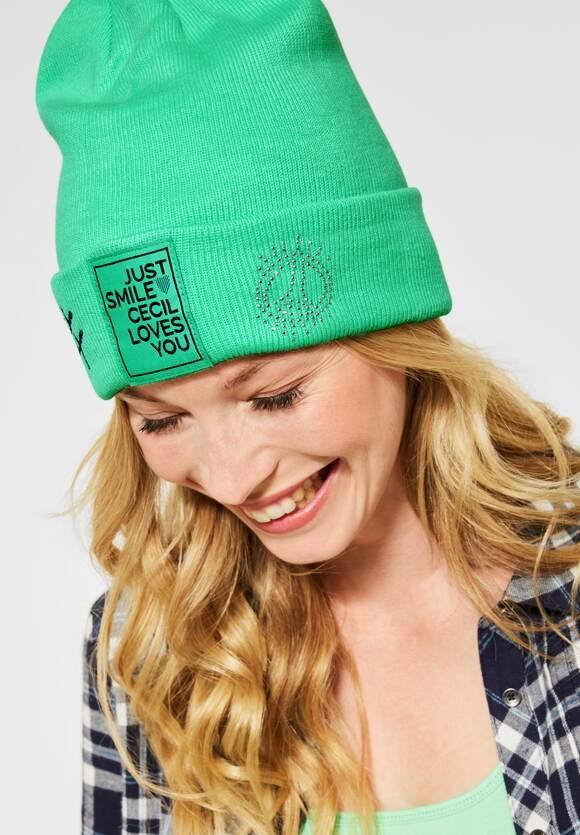 Cecil | Mütze mit Deko | Farbe: cool light mint green 12574, 571317