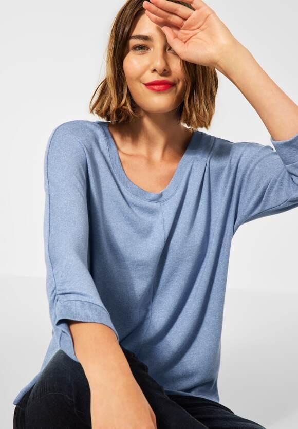 "Street One | Basic Shirt ""Ellen"" mit Raffung | Farbe: seaside blue 13270, 316888"