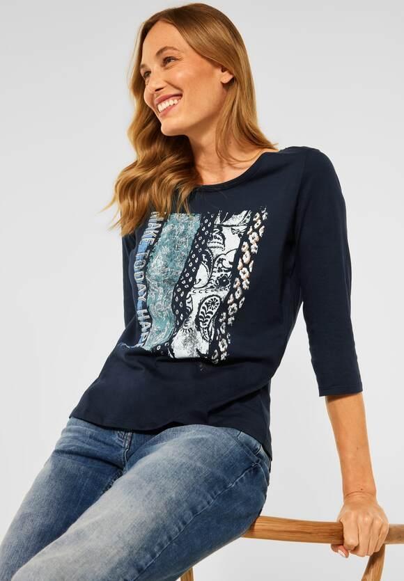 Cecil | T-Shirt mit Fotoprint | Farbe: deep blue 30128, 316741