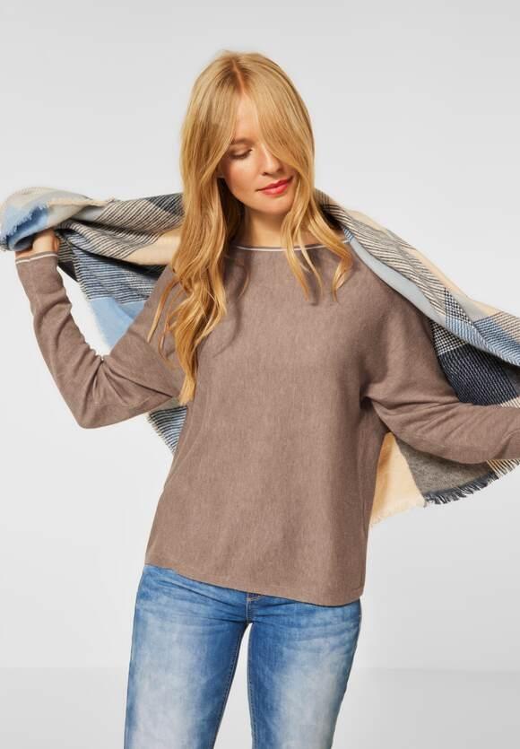 Street One   Pullover mit Dolman Ärmeln   Farbe: mocca sand mel. 23368, 301590