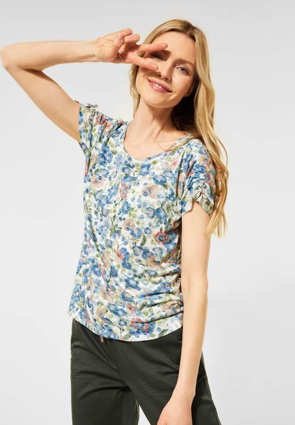 Cecil   T-Shirt mit Raffungen   Farbe: pure off white 30125, 316223