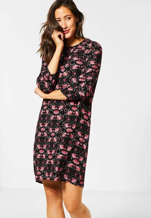 Street One   Kleid mit Smok-Details   Farbe: black 30001, 142781