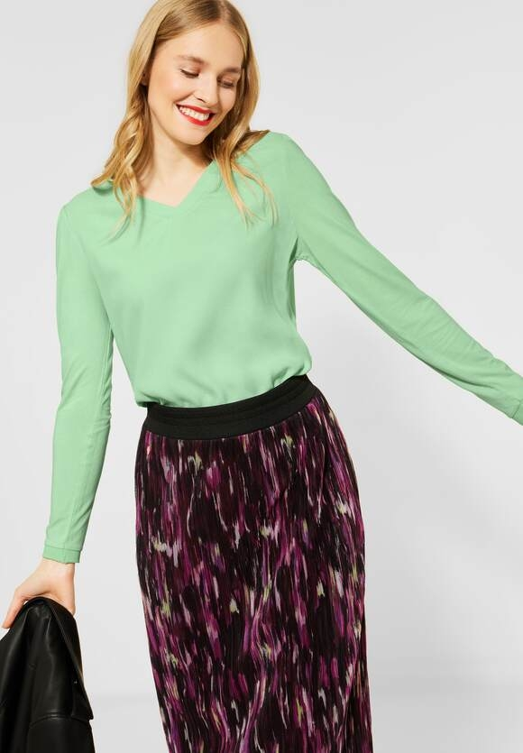 Street One   Shirt mit Material-Mix   Farbe: frosted pistachio 12828, 315830