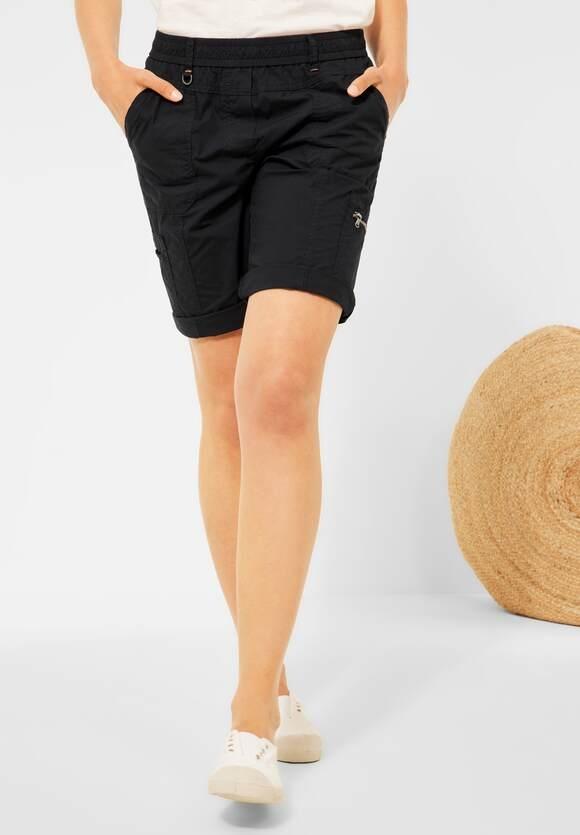 "Cecil   Loose Fit Shorts ""Jessy"" in Unifarbe   Farbe: black 10001, 374162"