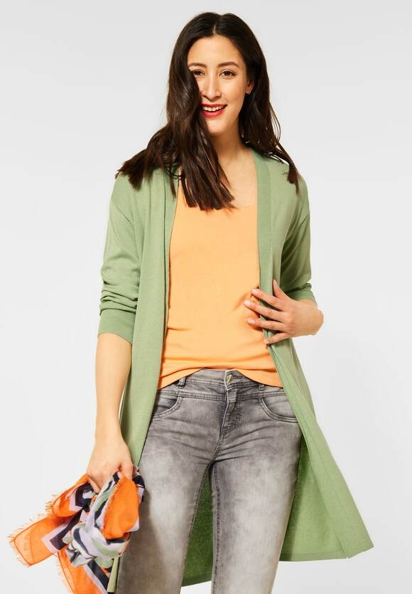 Street One   Langer Cardigan   Farbe: faded green 12902, 253213