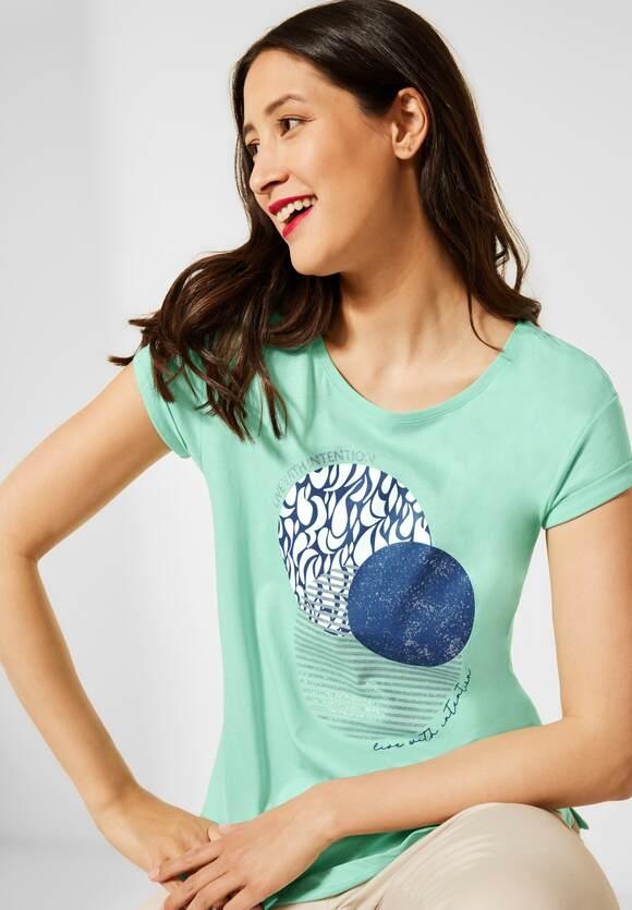 Street One   T-Shirt mit Partprint   Farbe: menthe green 33108, 316513
