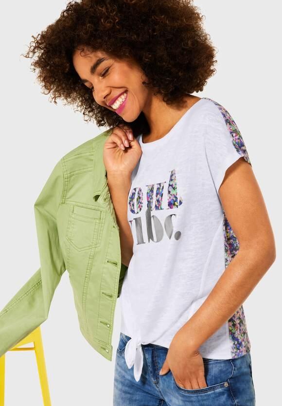 Street One   T-Shirt mit Partprint   Farbe: white 30000, 316268
