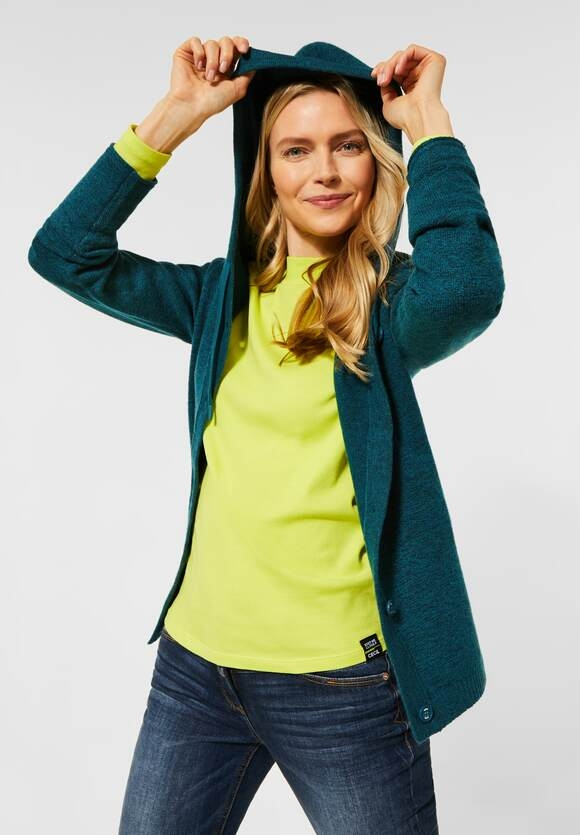 Cecil | Cardigan aus Flex Knit | Farbe: multi atlantic green mel 12805, 253095